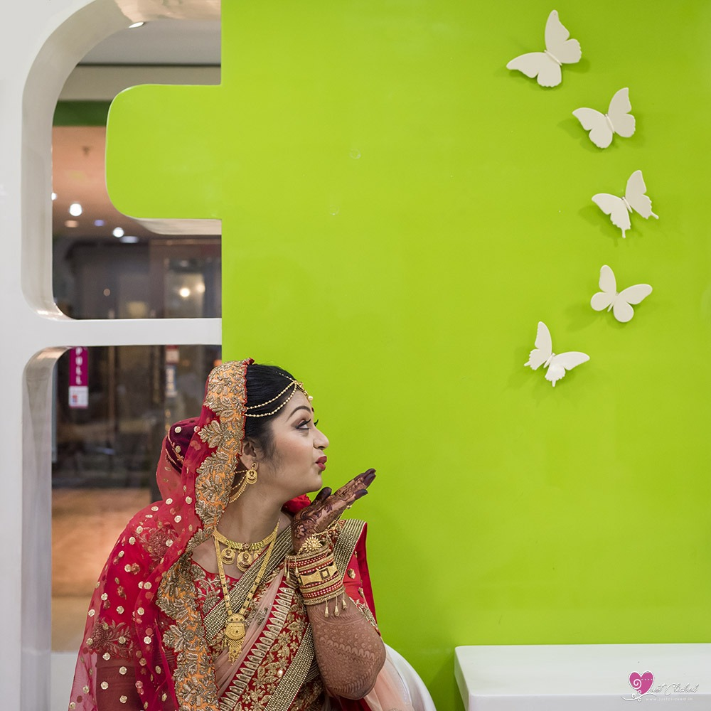 Indian wedding makeup photography